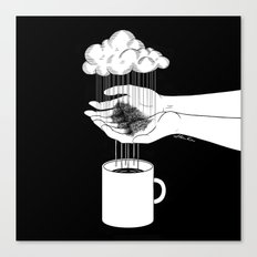 Hand Drip Coffee Canvas Print