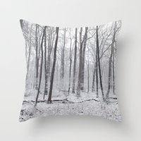 Winter's Woods Throw Pillow
