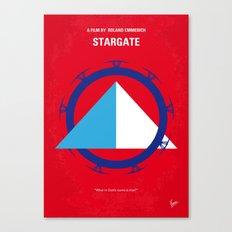No644 My STARGATE minimal movie poster Canvas Print