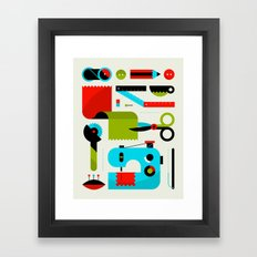 Sewing Kit Framed Art Print