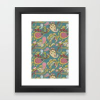 Paisley Teal Framed Art Print