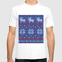 Winter Lovers Christmas Mens Fitted Tee White SMALL