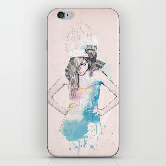 Raccoon Love iPhone & iPod Skin