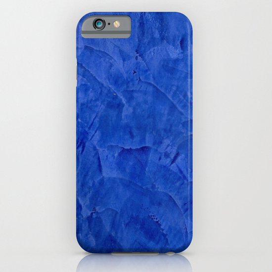 Dark Blue Stucco iPhone & iPod Case