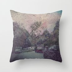 vintage rain Throw Pillow