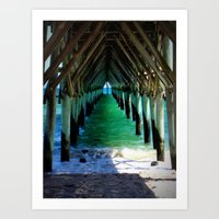 Peaceful Under the Pier Art Print