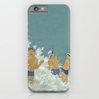 iPhone & iPod Case featuring Three Ama Enveloped In A Crashing Wave by kozyndan