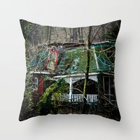 Red House Throw Pillow