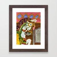 Carousel Horse - Clyde Framed Art Print