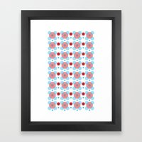 Dots Bubbles  Framed Art Print