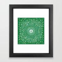 Christmas Tree Mandala Framed Art Print