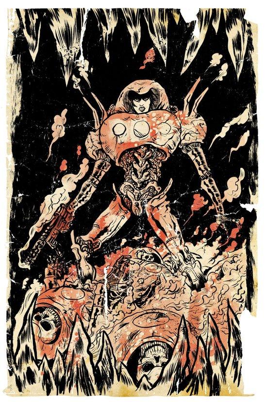 Dogs of Mars pin-up Art Print