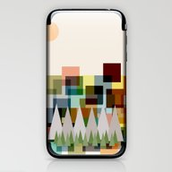 The Mountains At Sunrise iPhone & iPod Skin