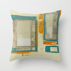 Mid Century Modern Abstract Throw Pillow