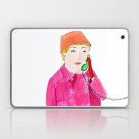Doris Day on the phone Laptop & iPad Skin