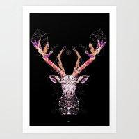 black deer Art Print