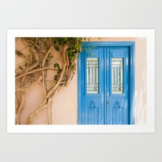 Blue Door in Chania, Crete Art Print