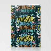 DON'T COMPARE YOURSELF T… Stationery Cards