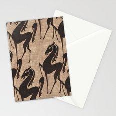 Burlap horses Stationery Cards