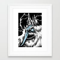 Framed Art Print featuring Adventure Time - Ice King by Suarez Art