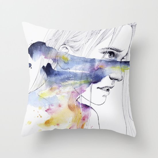 the water workshop IV Throw Pillow