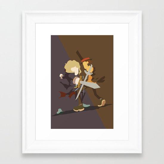 Professor Layton - Anton VS Layton Framed Art Print