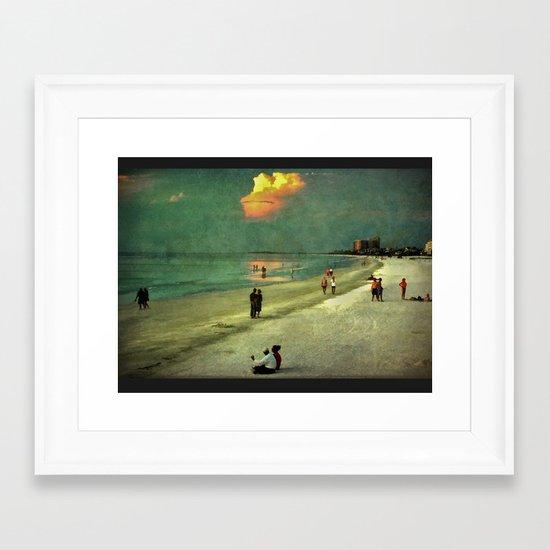 Clearwater Beach at Dusk Framed Art Print