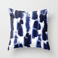 Blue mood Throw Pillow