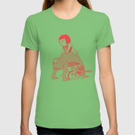 Bridge Womens Fitted Tee Grass LARGE