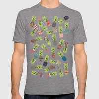 Crazy Pineapple Party Mens Fitted Tee Tri-Grey SMALL