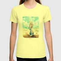 Summer Time Womens Fitted Tee Lemon SMALL