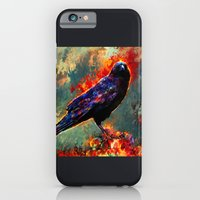 iPhone & iPod Case featuring three eyed crow by ururuty