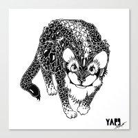 Black Cheetah Canvas Print