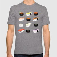 Sushi! Mens Fitted Tee Tri-Grey SMALL