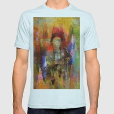 Woman samurai Mens Fitted Tee Light Blue SMALL