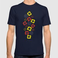 Blooming Wild (red & Yel… Mens Fitted Tee Navy SMALL
