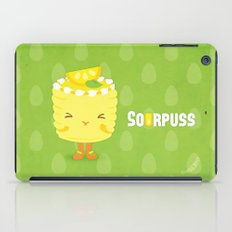 Sourpuss Lemon cake iPad Case