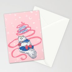 Sailor Kitties Pink Pattern Stationery Cards