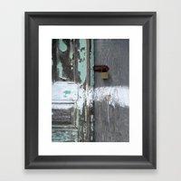 Hidden within Santorini, Greece Framed Art Print