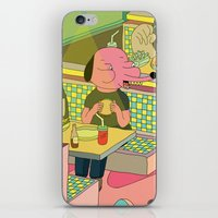 eating at johnny´s iPhone & iPod Skin