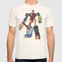 Assemble! Mens Fitted Tee Natural SMALL