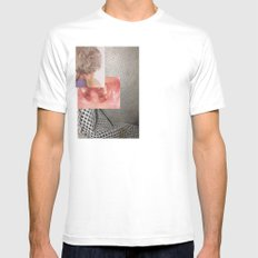 Inevitable  White Mens Fitted Tee SMALL