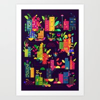 In The City Art Print