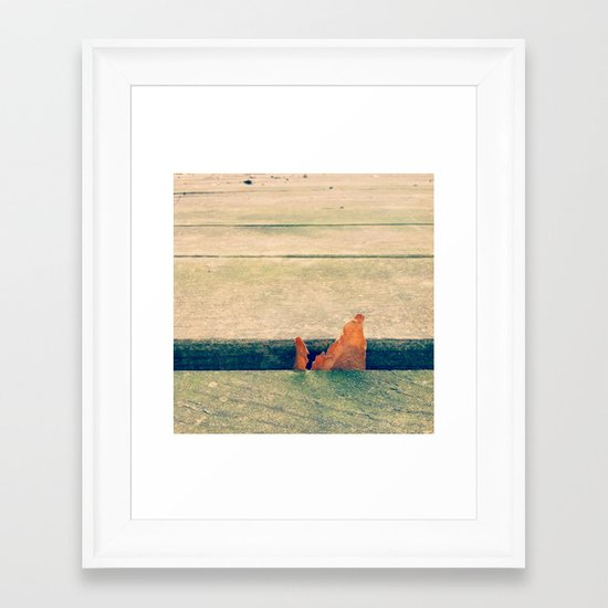 Lone Leaf Framed Art Print