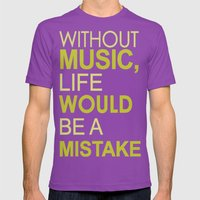 Without Music Mens Fitted Tee Ultraviolet SMALL