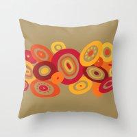 Banana Peppers Throw Pillow