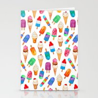 Summer Pops and Ice Cream Dreams Stationery Cards