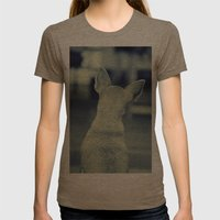 Dog Womens Fitted Tee Tri-Coffee SMALL