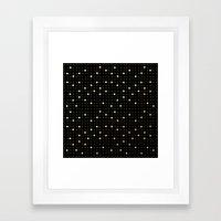 Pin Points Gold Framed Art Print