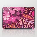 zentangle inspired Hortensia_rose pink doodle iPad Case